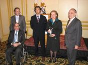 John de Zulueta, Ramón Freixes de Jassen Cilag y los Presidentes de la Fundación