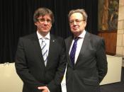 El Presidente Carlos Puigdemont e Ignacio Para