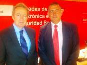 Ignacio Para Rodríguez-Santana, presidente de la Fundación Bamberg con Jesús Roj