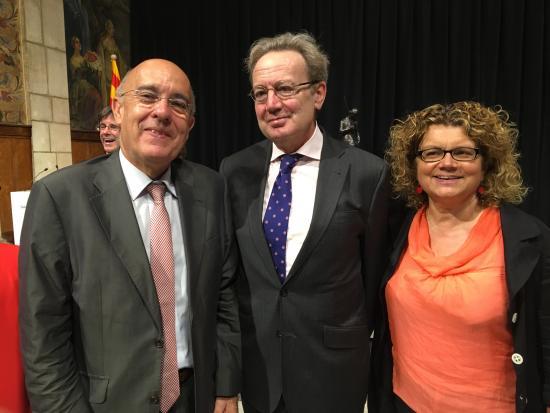 Ignacio Para con los exconsellers Boi Ruiz y Marina Geli
