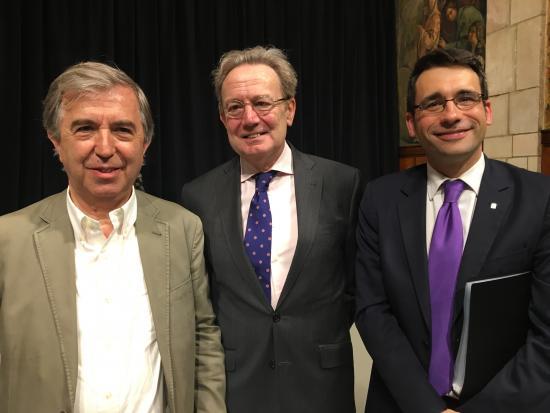 Miguel Vilardell, Ignacio Para y David Elvira, director del CatSalut
