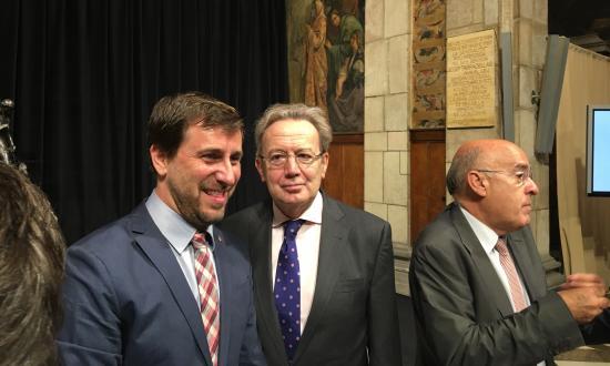 El Conseller Toni Comin, Ignacio Para y el ex Conseller Boi Ruiz