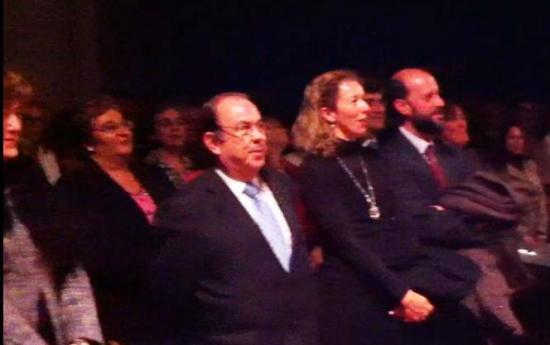 Honorio Bando y el Director General del Parque Científico de Madrid con su espos