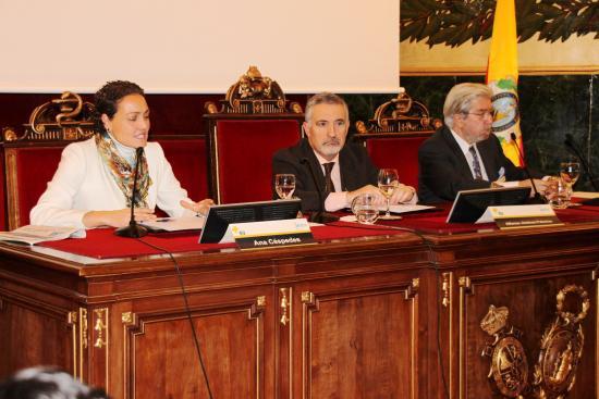 Clausura de la Jornada por Alfonso Jimenez, Ana Céspedes y Salvador Arribas