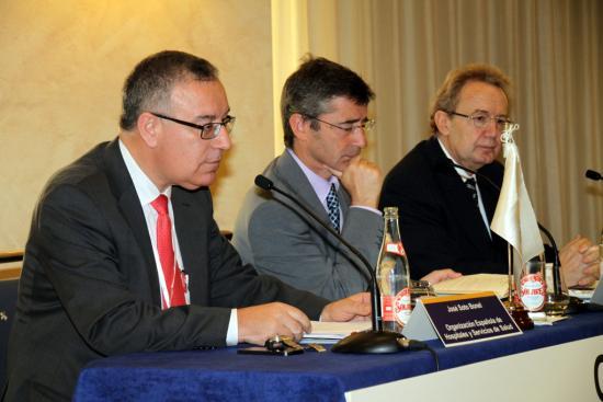 José Soto, Luis Carretero e Ignacio Para en el acto de inauguración