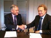 El Presidente del Instituto Choiseul España Eduardo Olier y el Presidente de la