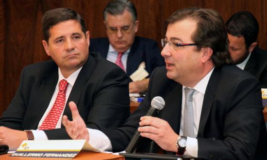 Joaquín Estevez, presidente de Sedisa y Guillermo Fernandez Vara, ex presidente